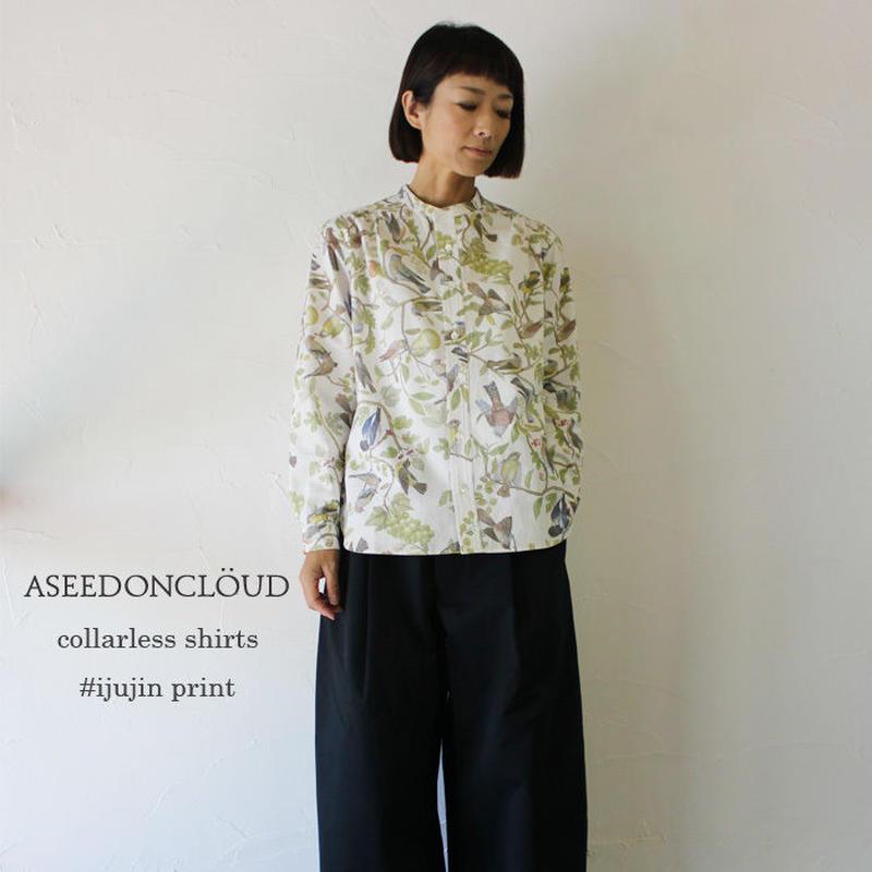 ASEEDONCLOUD アシードンクラウド collarless shirts #ijujin print 【送料無料】