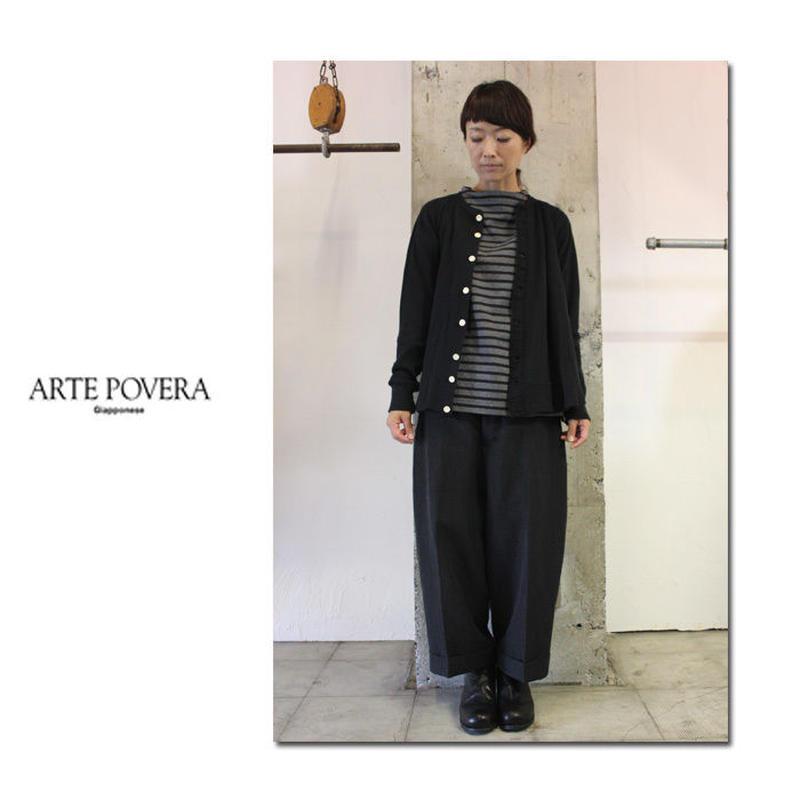 ARTE POVERA アルテポーヴェラ REスウェーデンアシンメトリーカーデ #ブラック【送料無料】