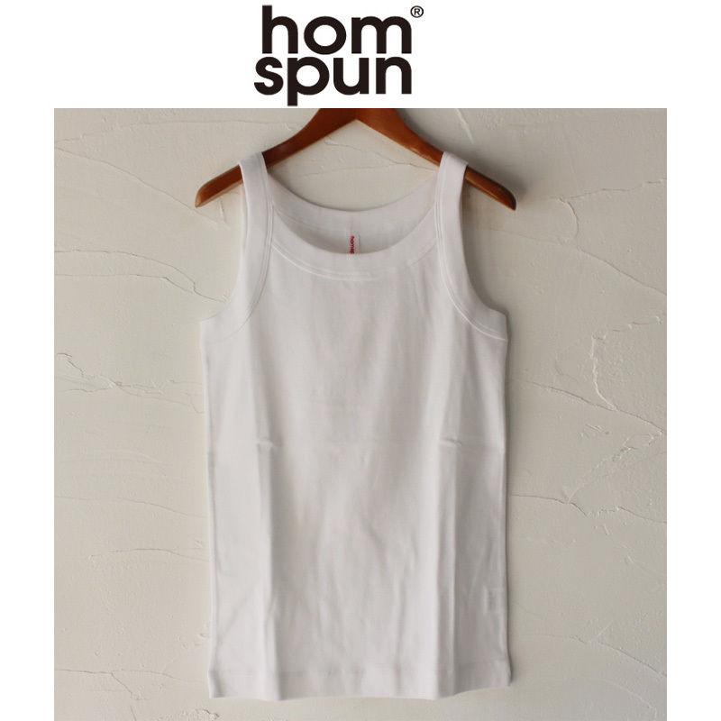 homspun ホームスパン 40/1度詰めフライスキャミソール #サラシ、杢チャコール、ネイビー