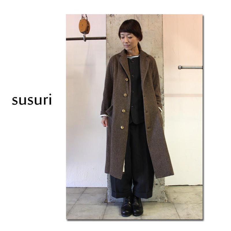 susuri ススリ スウィンギンコート #ベージュ、ブラウン 【送料無料】