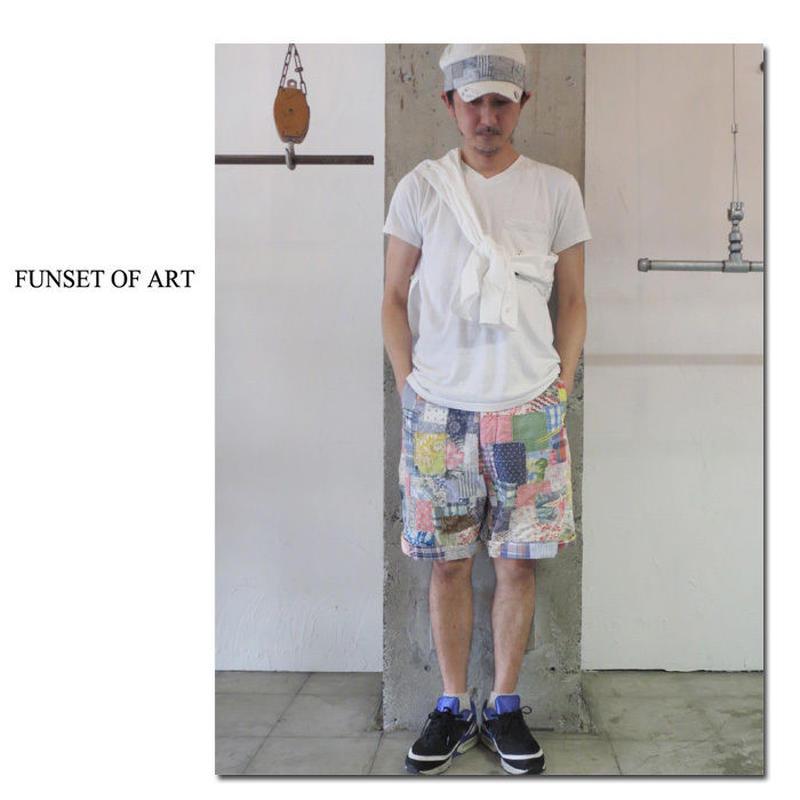 FUNSET OF ART ファンセットオブアート スワッチパッチワークハリーショーツ #アソート 【送料無料】