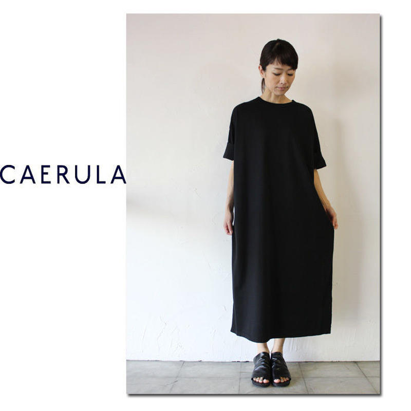 CAERULA カエルラ コーマ天竺カフナイルワンピース ♯ブラック 【送料無料】