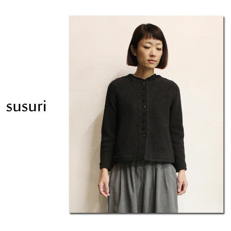 susuri ススリ ボルトインシャツジャケット ♯チャコール 【送料無料】