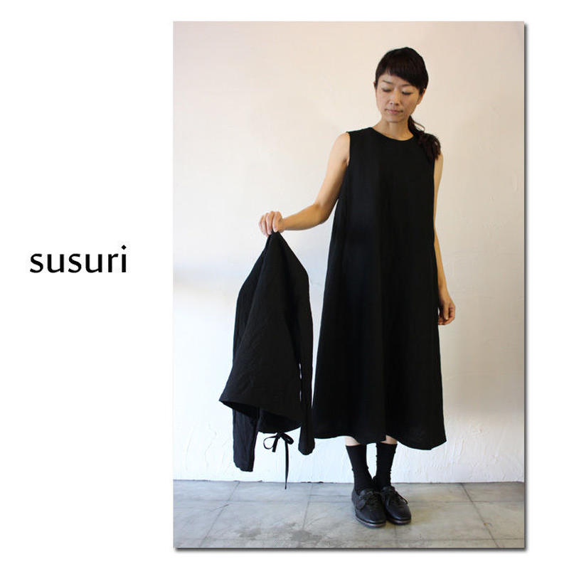 susuri ススリ リアワンピース #ネイビー、ブラック 【送料無料】