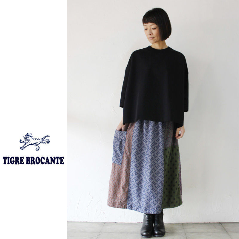 Tigre Brocante ティグルブロカンテ ロータスシャツMIXワンポケットカート #チャコール 【送料無料】