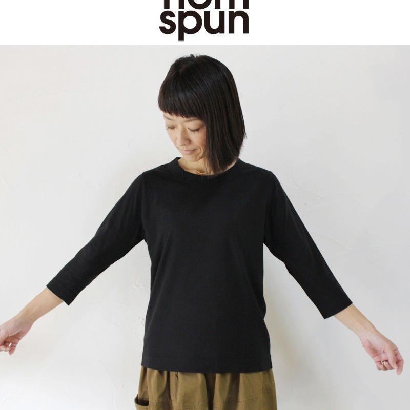 **再入荷**homspun ホームスパン 30/-天竺7分袖Tシャツ #サラシ、ピンク、グリーン、TOPネイビー、ブラック
