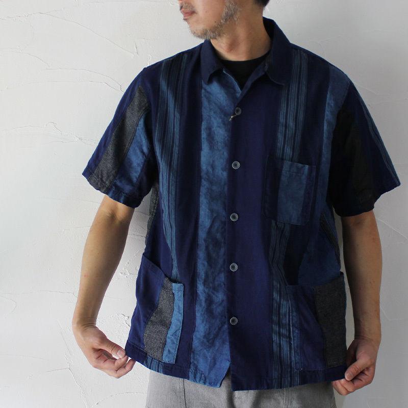 FUNSET OF ART ファンセットオブアート 藍裂ファーブルシャツ ♯インディゴ 【送料無料】