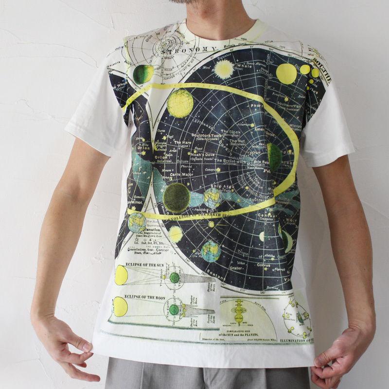 TigreBrocanteティグルブロカンテ THE COSMOS半袖Tシャツ #ホワイト