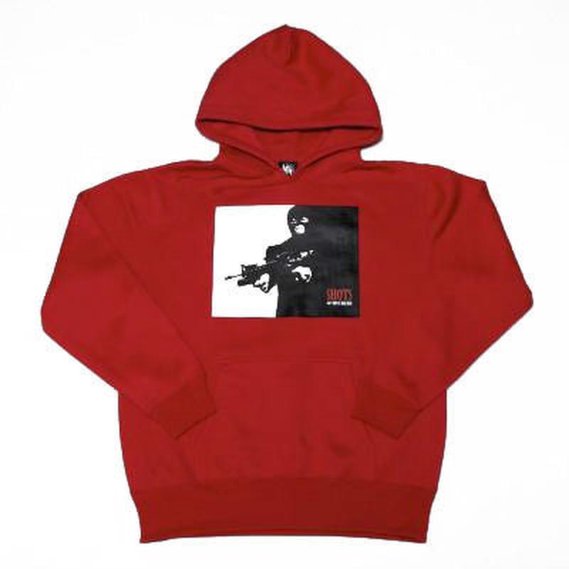 SHOTS T.S.N.M SWEAT HOODYⅡ (RED)