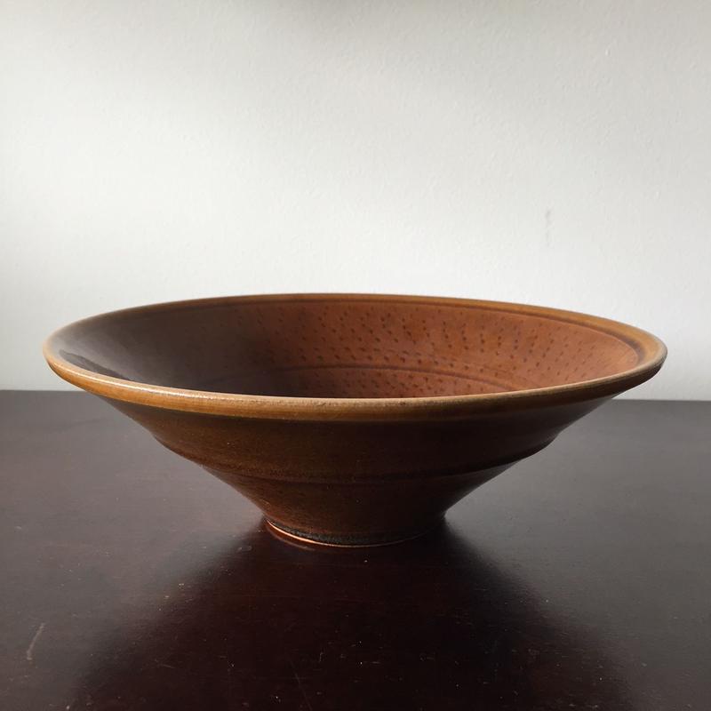 八重山陶磁 飛びカンナ鉢(陶器)/宮良断(アンパル陶房)