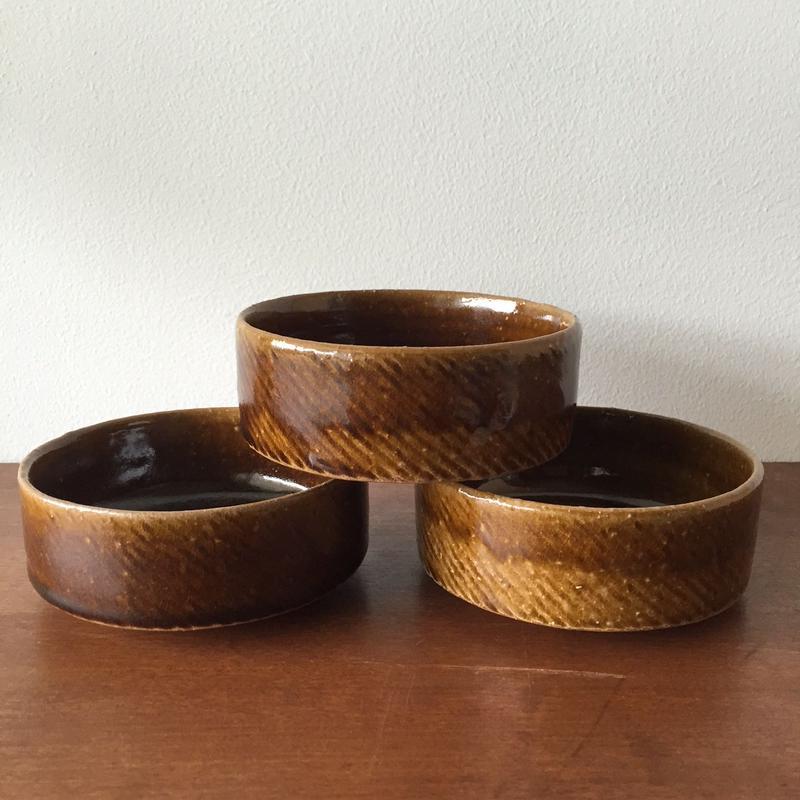 八重山陶磁 アメ釉ナッツボウル(小)(陶器)/宮良断(アンパル陶房)