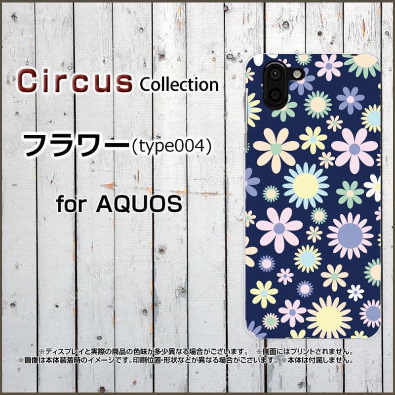 AQUOSシリーズ フラワー(type004) スマホケース ハードタイプ (品番caq-066)