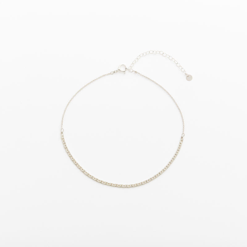snake chain anklet 13A101 / silver