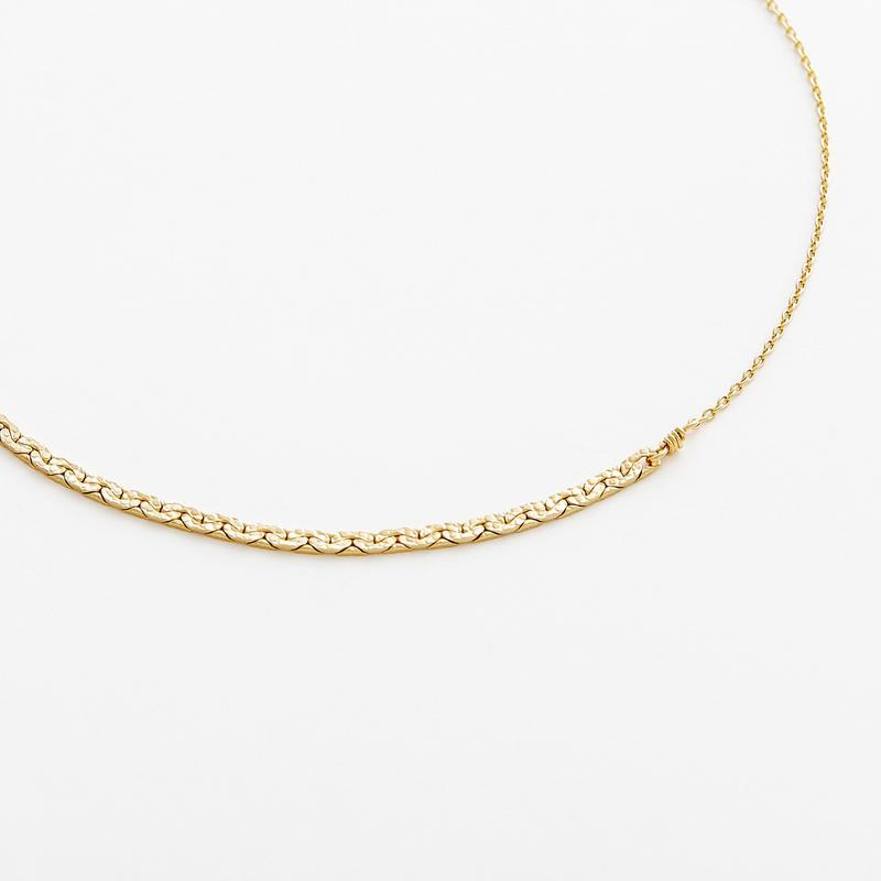 snake chain bracelet 13B101 / gold