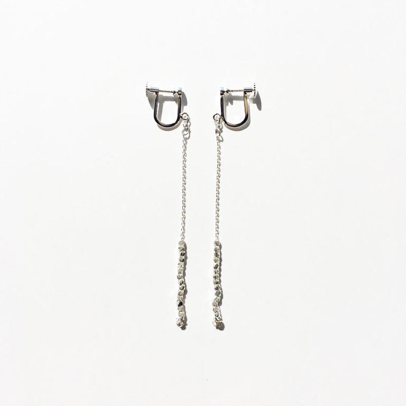 square beads earring 07E55-5 / silver