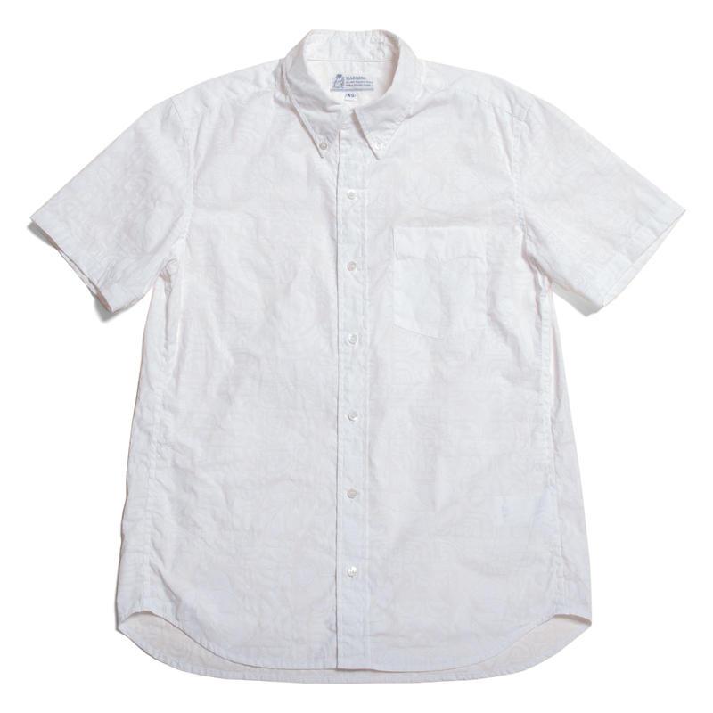Men's Hawaiian Button Down Shirts - Kapa White