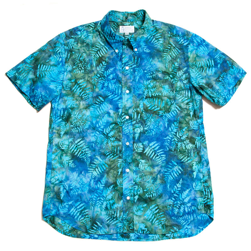 Men's Hawaiian Button Down Shirts - Fern Leaves