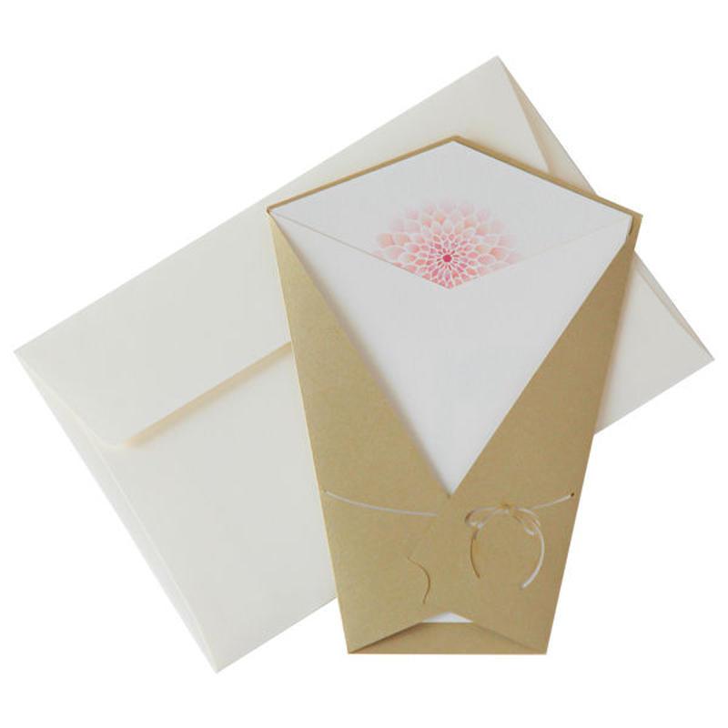 フローラルレターダリア(カードM+封筒)