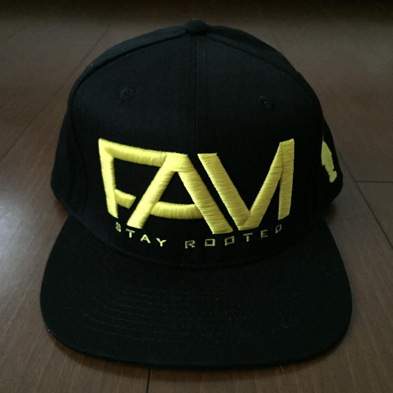 "FAM HAWAII ""LOGO"" Hat Black / Yellow"
