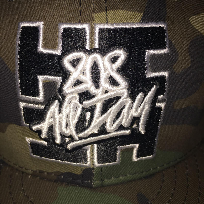 "HAWAII'S FINEST x 808ALLDAY Collab ""CAMO LOGO"" hat"