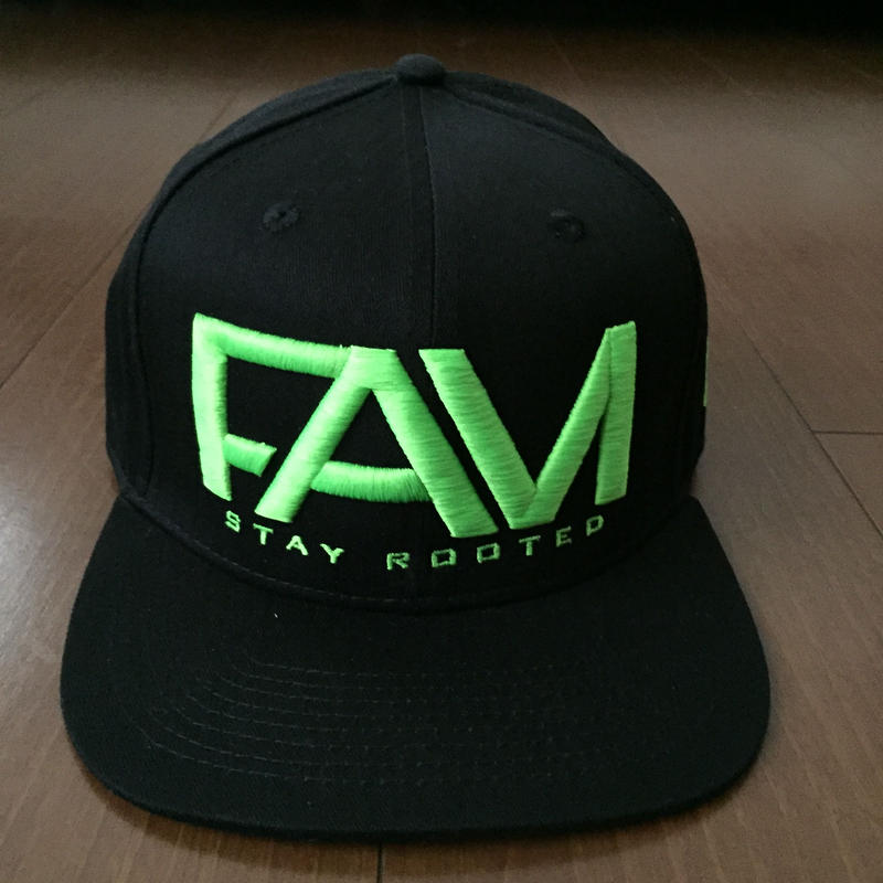 "FAM HAWAII ""LOGO"" Hat Black / Green"