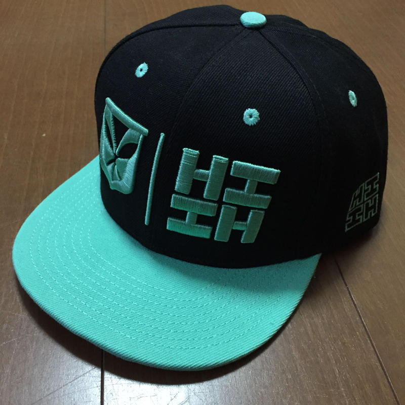 "HAWAII'S FINEST ""SIMPLE LOGO"" SNAP BACK HAT  BLK/TEAL"