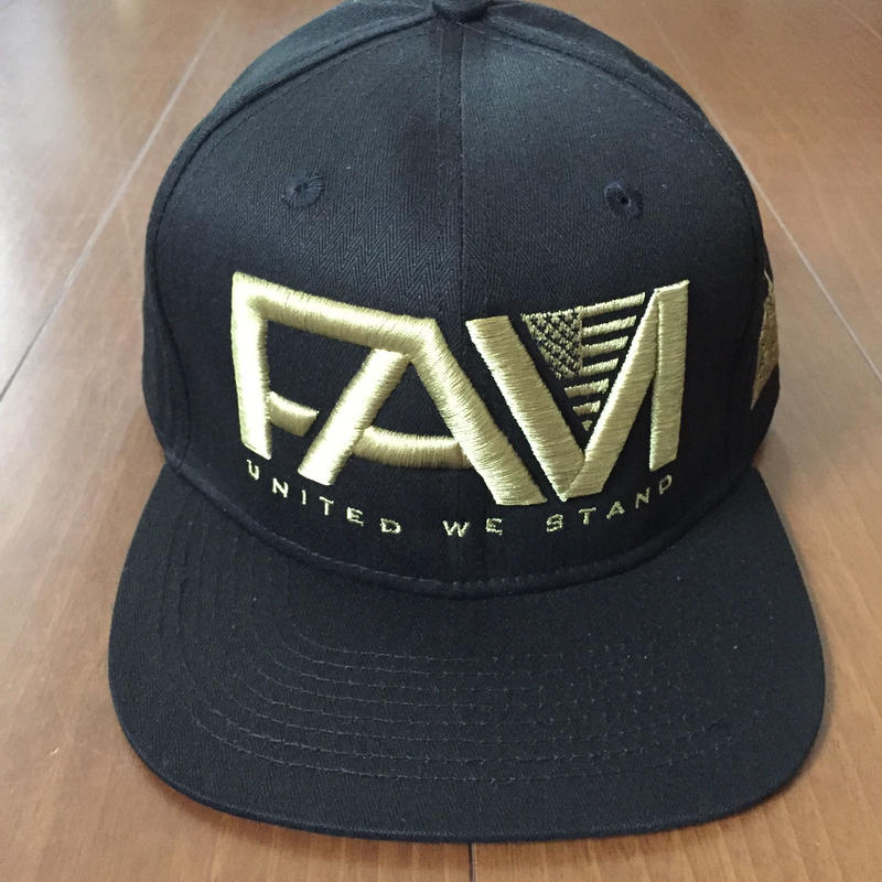 "FAM HAWAII ""LOGO UNITED WE STAND"" Hat Black / Gold"