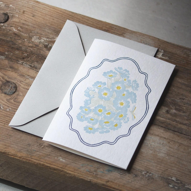 "Letterpress Card ""花鳥風月/蜻蛉 スクエア型 単品<大>"