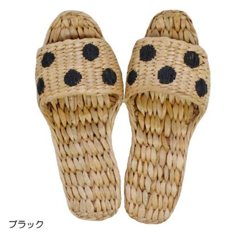 Summer slippers ドット刺繍