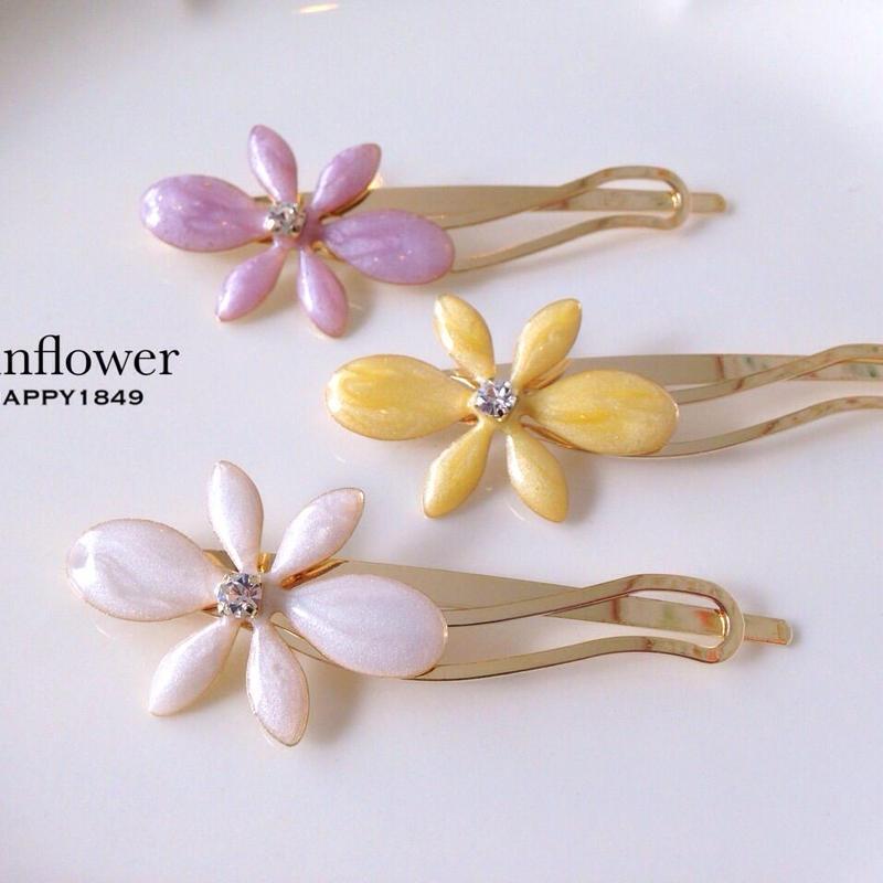 flowerヘアクリップ