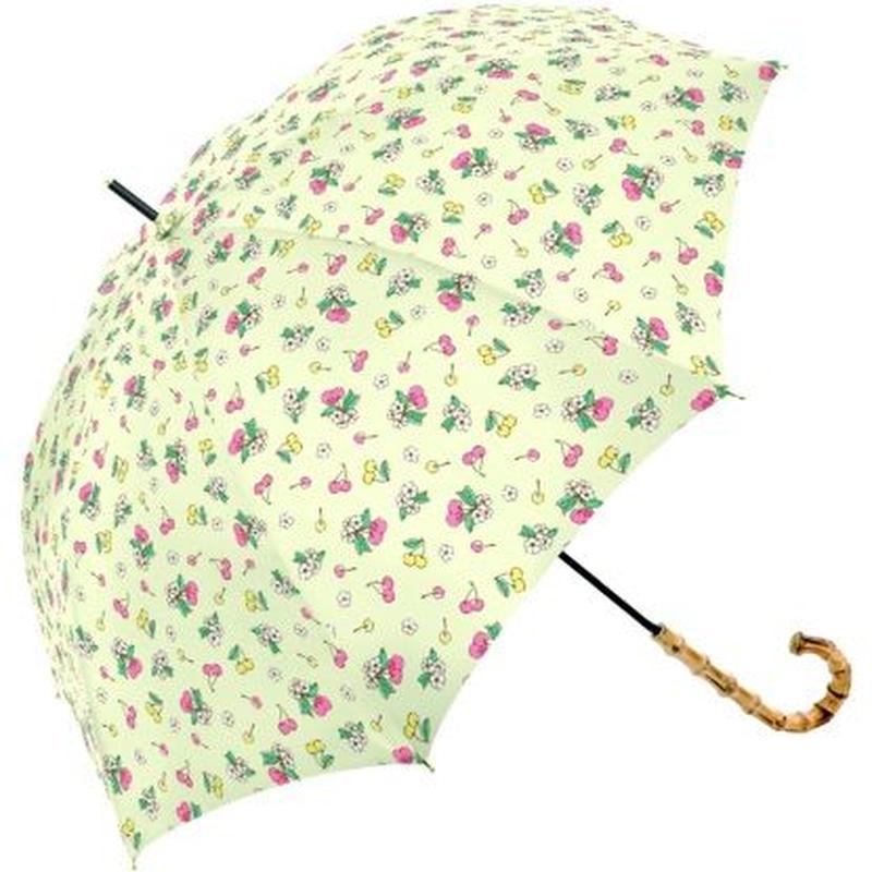 チェリー柄グラスファイバー傘