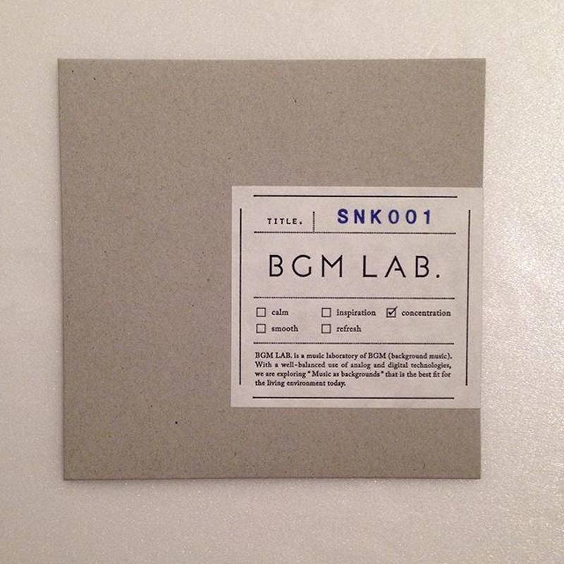 BGM LAB.|「PDL001」「SNK001」(CD)