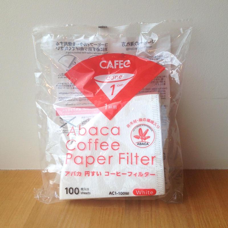 CAFEC アバカ 円すい コーヒーフィルター White 100枚入 1杯用