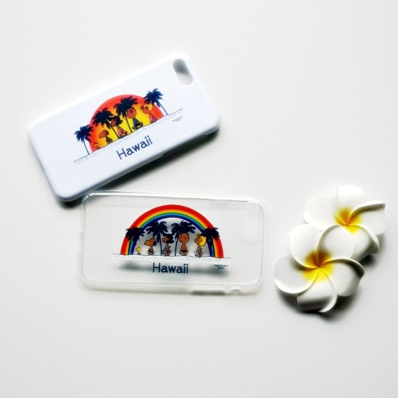 ハワイ moni 日焼けスヌーピー iPhone7 ケース・カバー