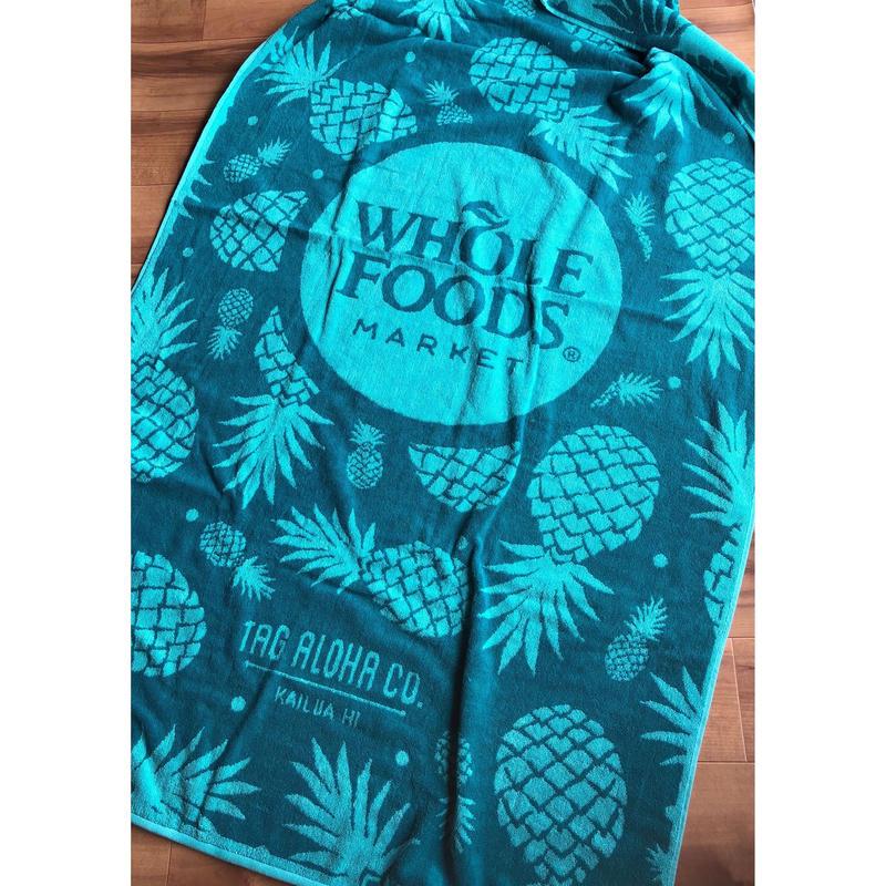 ホールフーズマーケット ×tag aloha パイナップル  ビーチタオル