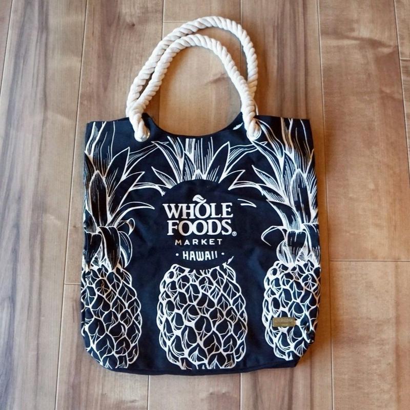 ホールフーズマーケット ×tag aloha パイナップル ブラック トートバッグ/エコバッグ
