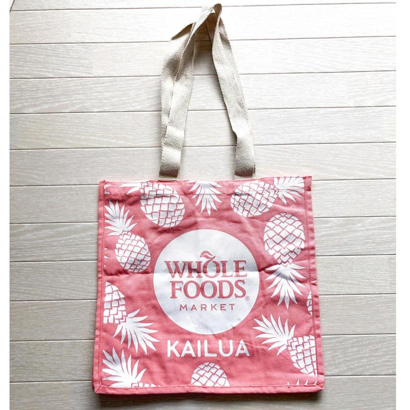 ハワイ ホールフーズマーケット パイナップル  トートバッグ ピンク