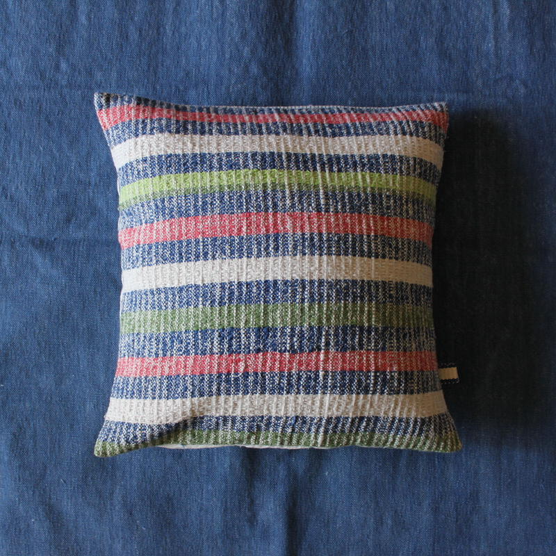 Gara-bou × Khadi Cushion Cover (Crazy Stripe)