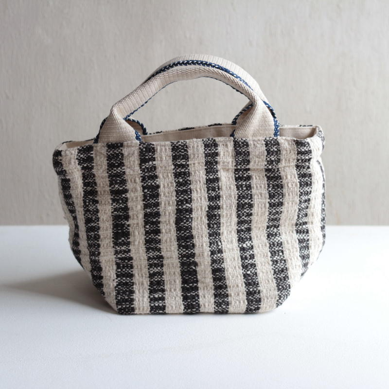Gara-bou × Canvas Small Tote (Charcoal Strope)