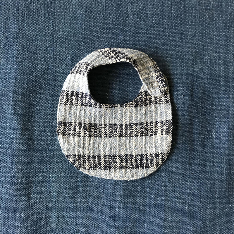 Gara-bou Baby Bib (Indigo Border Light×Dark )