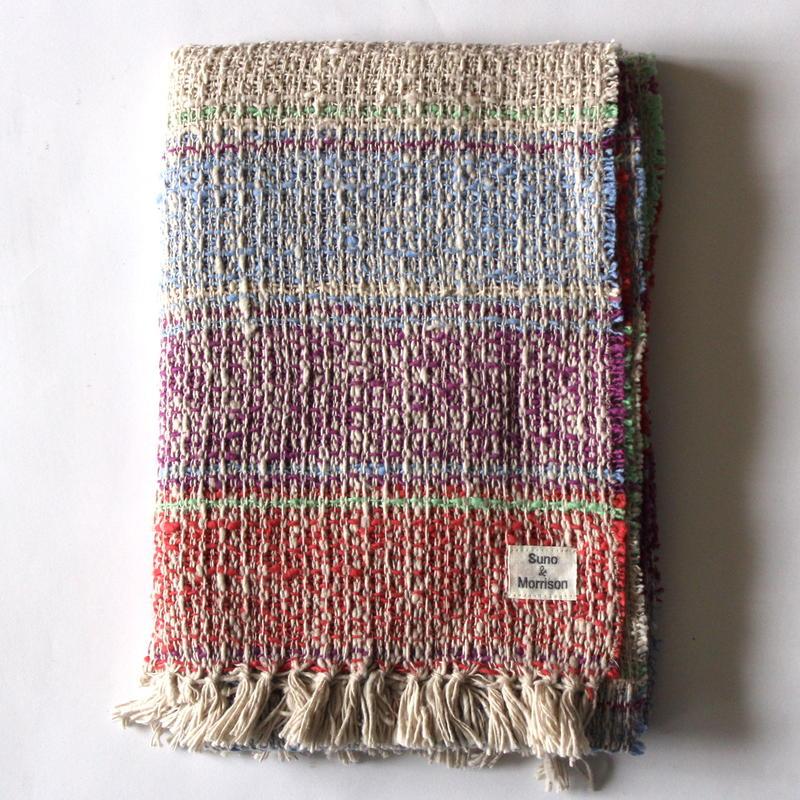 Gara-bou Medium Stole 1ply WS 50×190cm (Bolivian Scarlet)