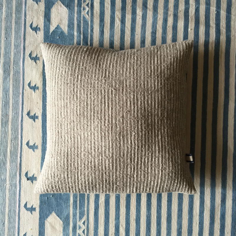 Gara-bou × Khadi Cushion Cover (Sand)