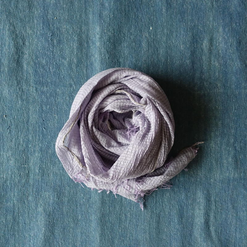 TC Khadi Chambray Stole (Lavender)