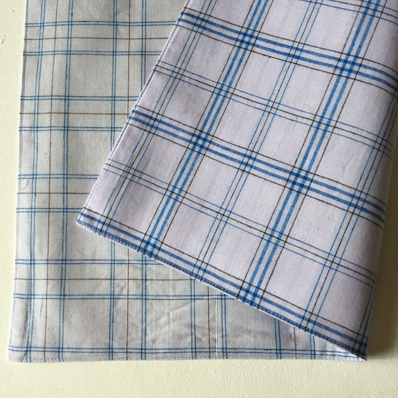 Lungi White Plaid Place Mat #H