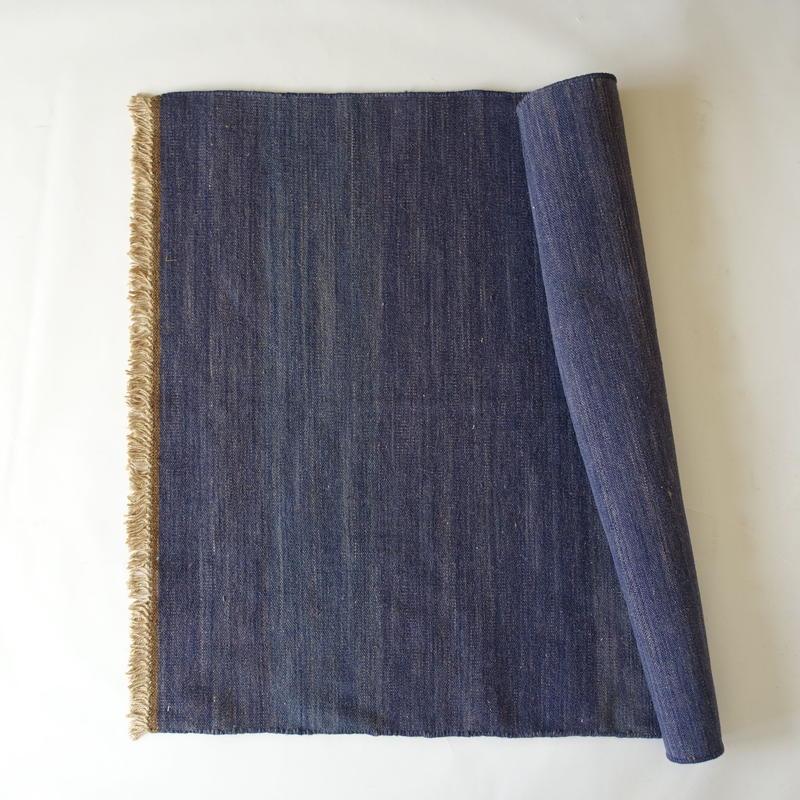 Dark Indigo Wool Rug 60x90
