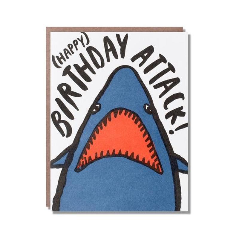 birthday card サメ