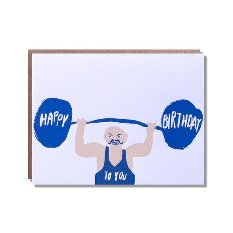 birthday card ちからもち