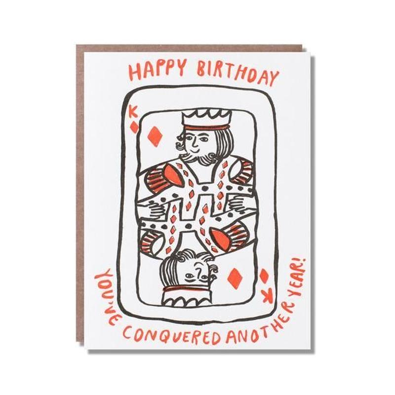 birthday card キング