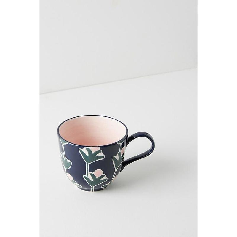 Leaf mug pink