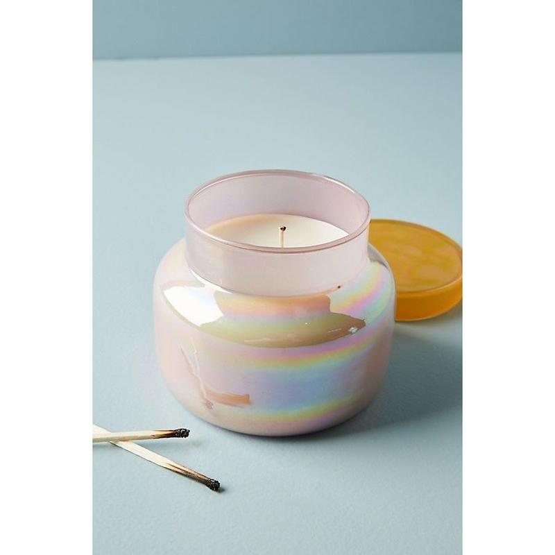 Capri Blue Iridescent Jar Candle -yellow